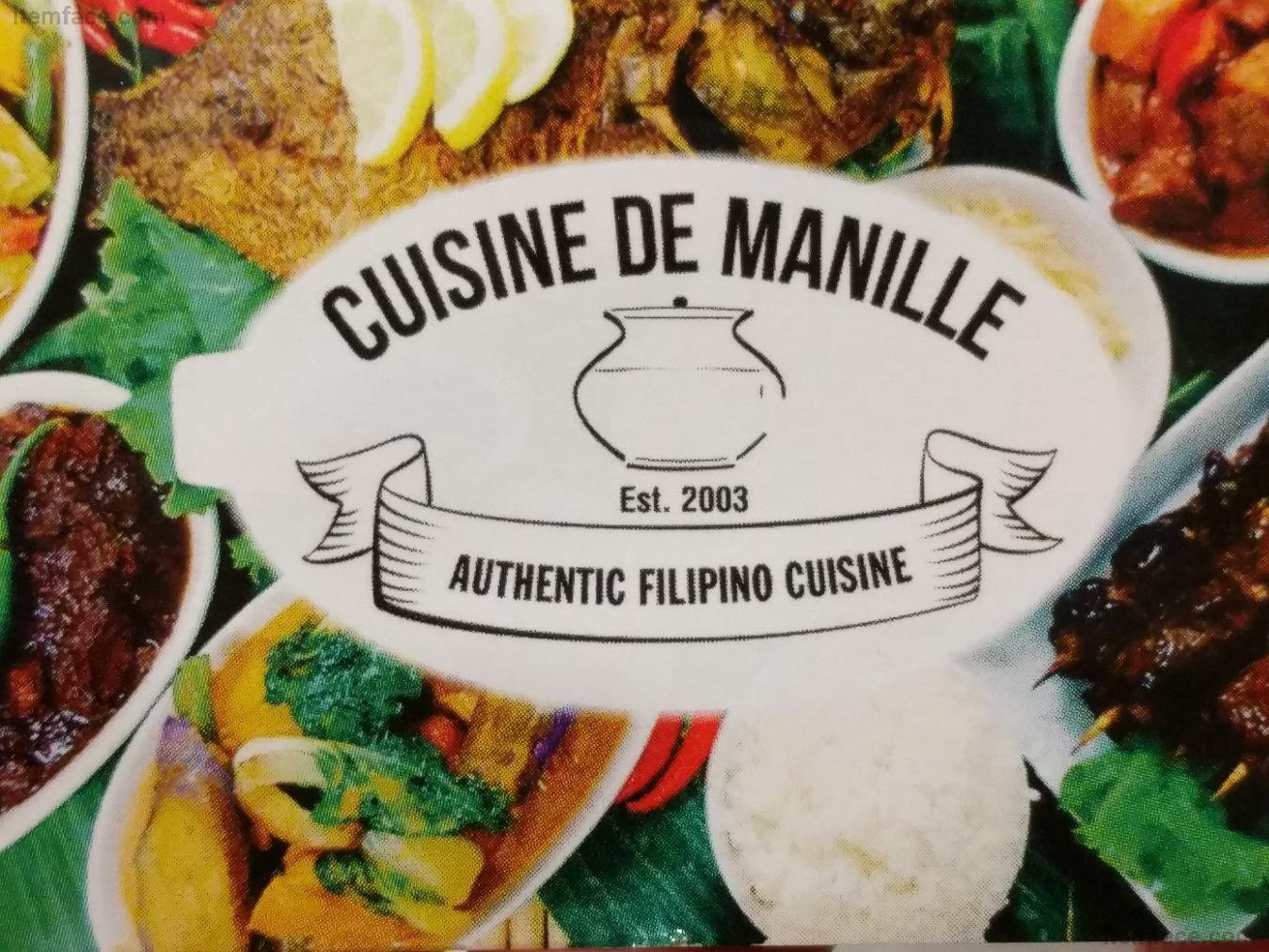 CUISINE DE MANILLE - Restaurant