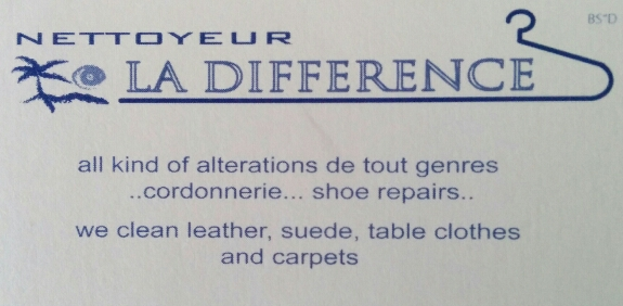 Nettoyeur LA DIFFERENCE - Dry Cleaner