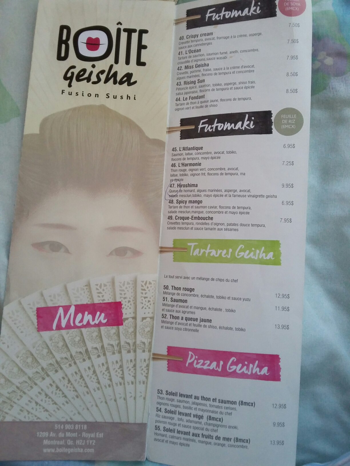 Boite Geisha - Restaurant